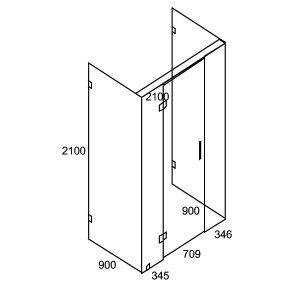 1400 x 9000 x 900 Swing Door