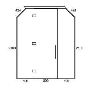 2000 Inline Swing Door
