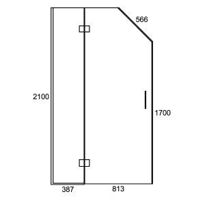 Inline Swing Door 1200