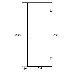 Inline G/W Swing Door 1000