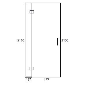 Inline Swing Door 1000