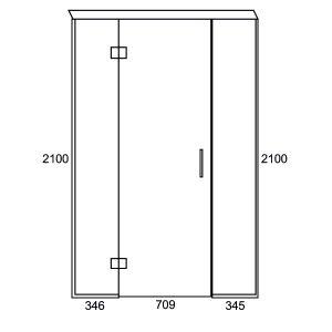 1400 Inline Swing Door