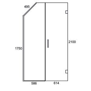 Inline G/W Swing Door 1200